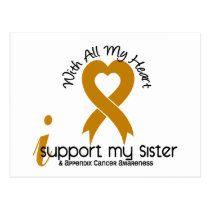 I Support My Sister Appendix Cancer Postcard