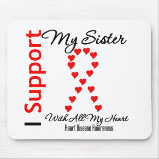 I Support My Sister - Heart Disease Mouse Pads