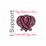 I Support My Sister-in-Law Breast Cancer Awareness Postcard
