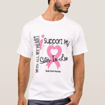 I Support My Sister-In-Law Breast Cancer T-Shirt