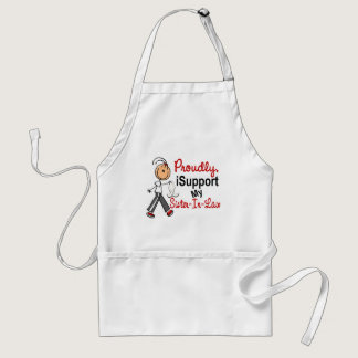 I Support My Sister-In-Law SFT (Bone / Lung Cancer Adult Apron