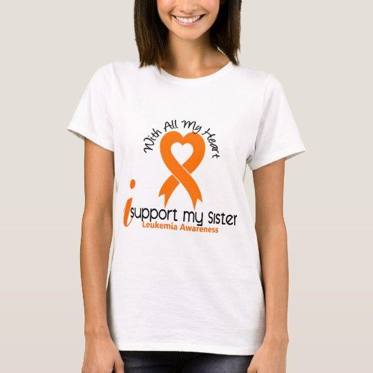 I Support My Sister Leukemia T-Shirt