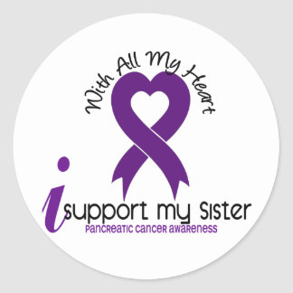 I Support My Sister Pancreatic Cancer Stickers