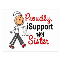 I Support My Sister SFT (Bone / Lung Cancer) Postcard