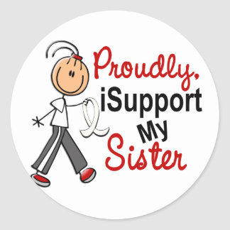 I Support My Sister SFT (Bone / Lung Cancer) Sticker