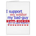 I support my soldier, card
