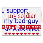 I support my soldier, greeting cards