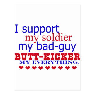 I support my soldier, postcard
