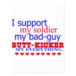 I support my soldier, postcards