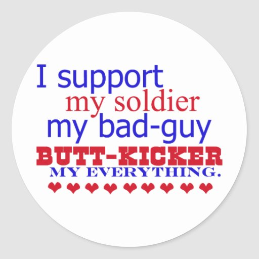I support my soldier, stickers