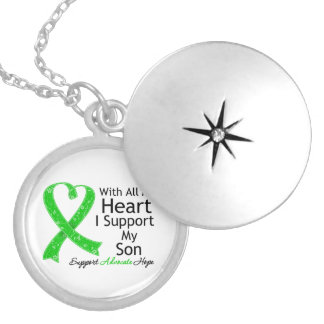 I Support My Son All My Heart Round Locket Necklace