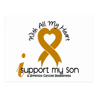 I Support My Son Appendix Cancer Postcard