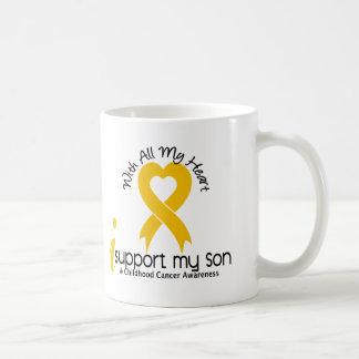 I Support My Son Childhood Cancer Coffee Mug