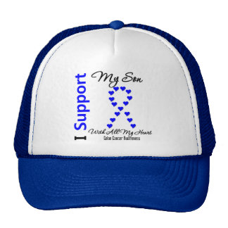 I Support My Son Colon Cancer Hat