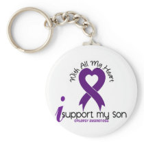 I Support My Son Epilepsy Keychain