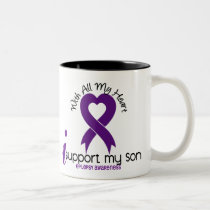 I Support My Son Epilepsy Two-Tone Coffee Mug