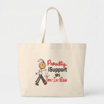 I Support My SON-IN-LAW (Bone / Lung Cancer) Large Tote Bag