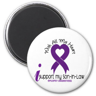 I Support My Son-In-Law Epilepsy 2 Inch Round Magnet