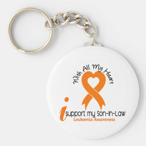 I Support My Son-In-Law Leukemia Key Chain
