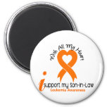 I Support My Son-In-Law Leukemia Refrigerator Magnets