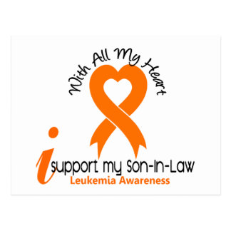 I Support My Son-In-Law Leukemia Postcard