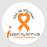 I Support My Son-In-Law Leukemia Stickers