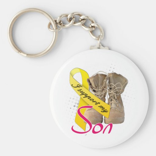 I support my Son Key Chain
