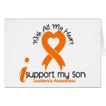 I Support My Son Leukemia Cards