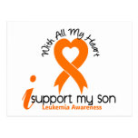 I Support My Son Leukemia Postcard