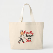 I Support My Son SFT (Bone / Lung Cancer) Large Tote Bag