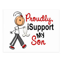 I Support My Son SFT (Bone / Lung Cancer) Postcard