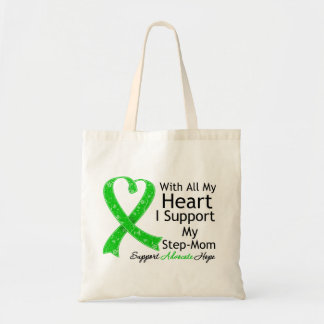I Support My Step-Mom With All My Heart Tote Bags