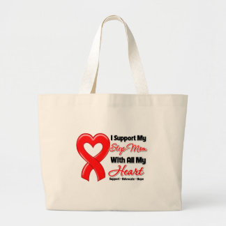 I Support My Step-Mom With All My Heart Canvas Bags