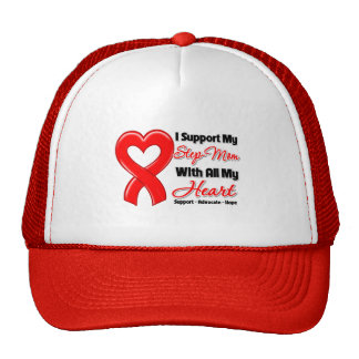 I Support My Step-Mom With All My Heart Trucker Hats