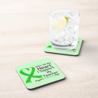I Support My Teacher With All My Heart Beverage Coaster