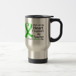 I Support My Teacher With All My Heart 15 Oz Stainless Steel Travel Mug