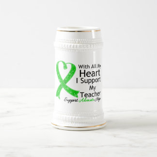 I Support My Teacher With All My Heart 18 Oz Beer Stein