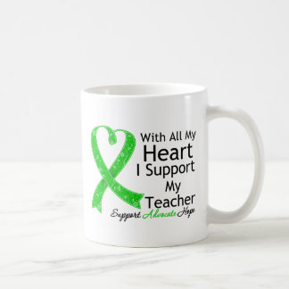 I Support My Teacher With All My Heart Classic White Coffee Mug