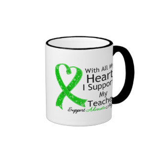 I Support My Teacher With All My Heart Ringer Coffee Mug
