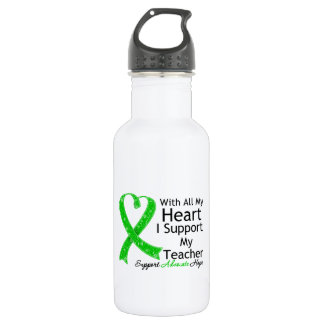 I Support My Teacher With All My Heart 18oz Water Bottle