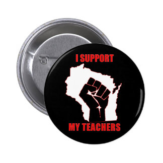 I support my teachers pins