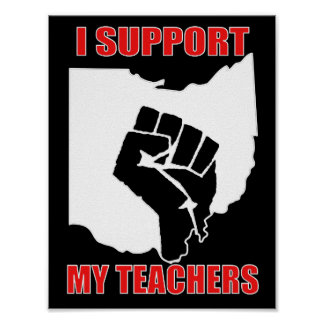 I Support My Teachers Poster