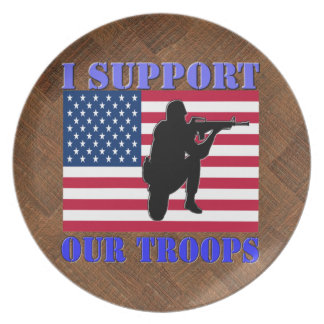 I SUPPORT MY TROOPS DINNER PLATE