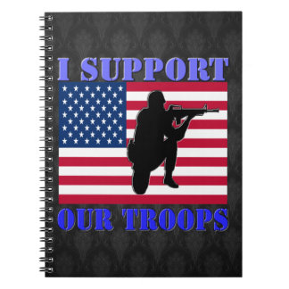I SUPPORT MY TROOPS SPIRAL NOTE BOOK