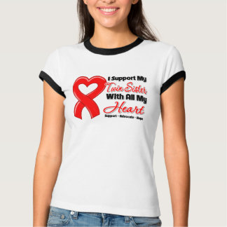 I Support My Twin Sister With All My Heart T-Shirt