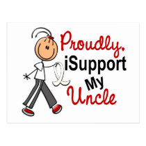 I Support My Uncle SFT (Bone / Lung Cancer) Postcard