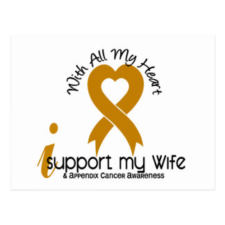 I Support My Wife Appendix Cancer Postcard