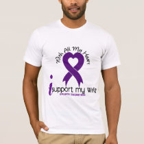 I Support My Wife Epilepsy T-Shirt