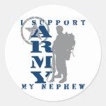 I Support Nephew 2 - ARMY Round Sticker