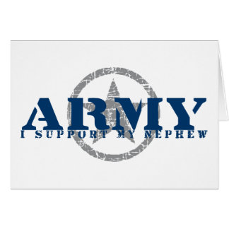 I Support Nephew - ARMY Cards
